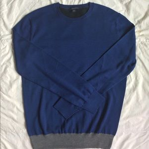 Color block merino wool sweater